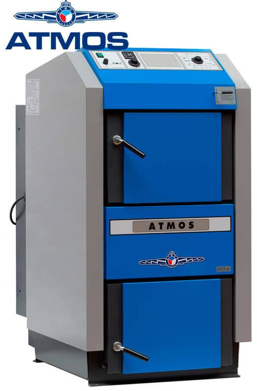 Котел твердотопливный пиролизный Atmos C 40 S 40 квт