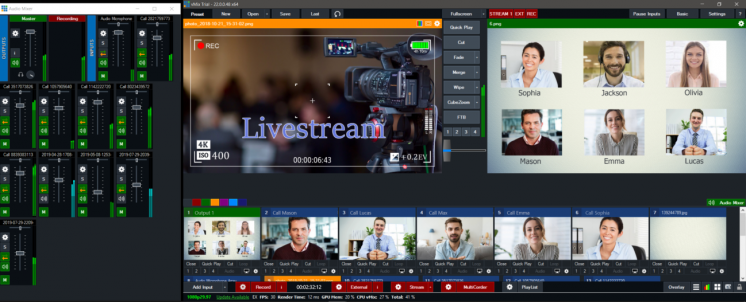 Организация онлайн мероприятий, прямой эфир, телемост, вебинар, онлайн