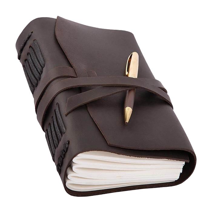 Кожаный блокнот Comfy strap оригинальный подарок записная книжка