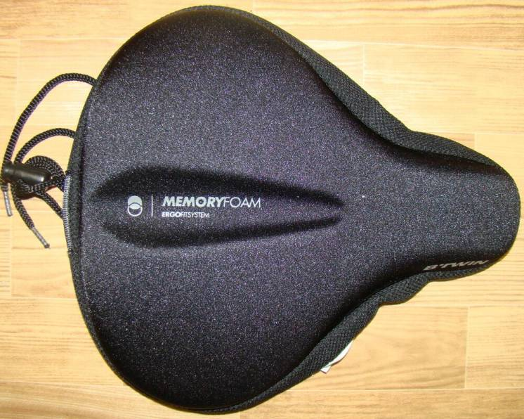 Накладка сідла BTWIN Ergofit 500 saddle cover XL, MemoryFoam