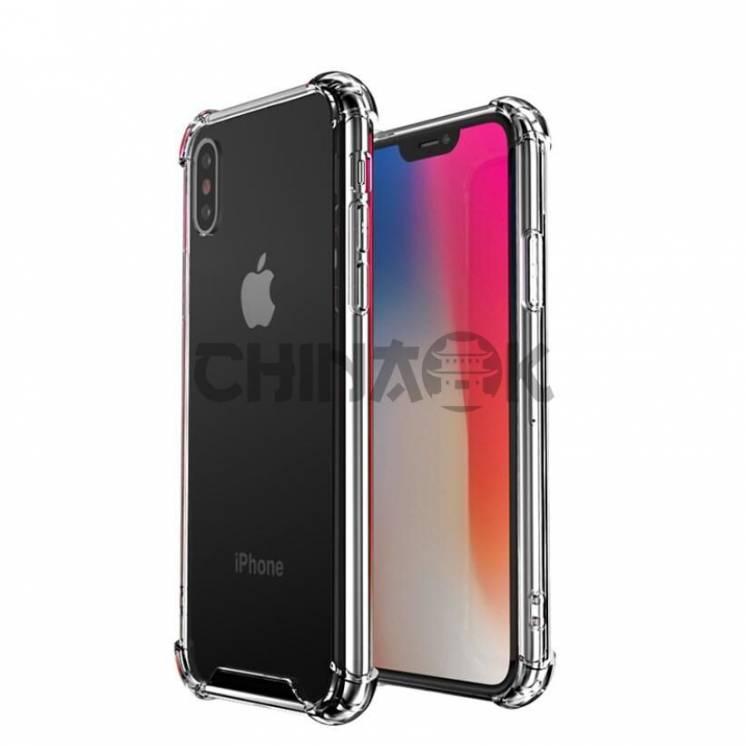 Усиленный силиконовый противоударный чехол для iPhone X/XS