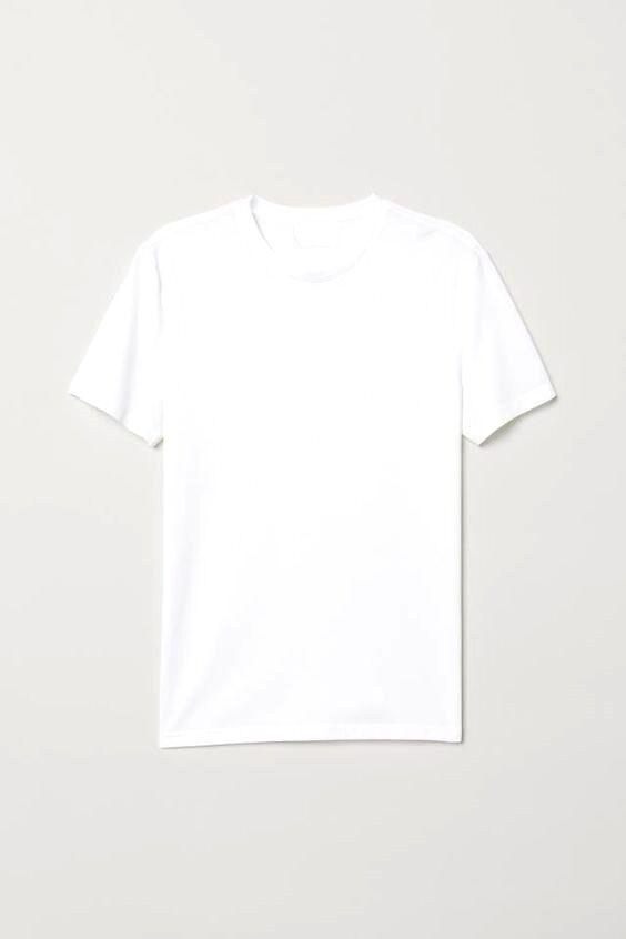 Базовая белая женская футболка под принт рисунок