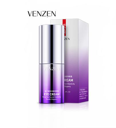 Крем для глаз с лифтинг эффектом и экстрактом черной икры Venzen