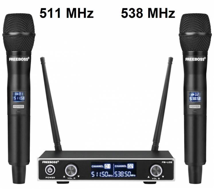 Радиосистема Freeboss FB-U35 UHF радио микрофон беспроводной