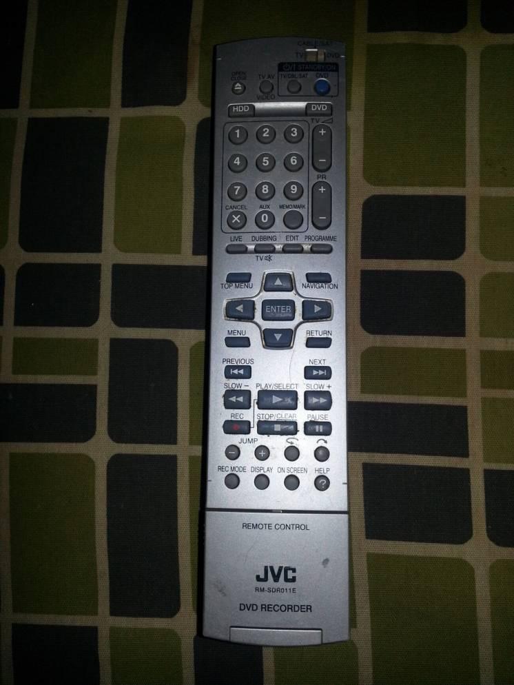 Пульт JVC RM-SDR011E DVD Recorder