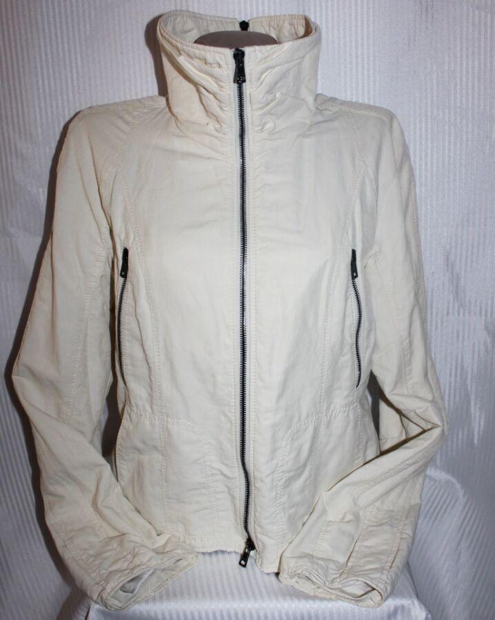 Ветровка куртка жакет коттон/лён/нейлон бежевая Marc Cain 3(46-48)