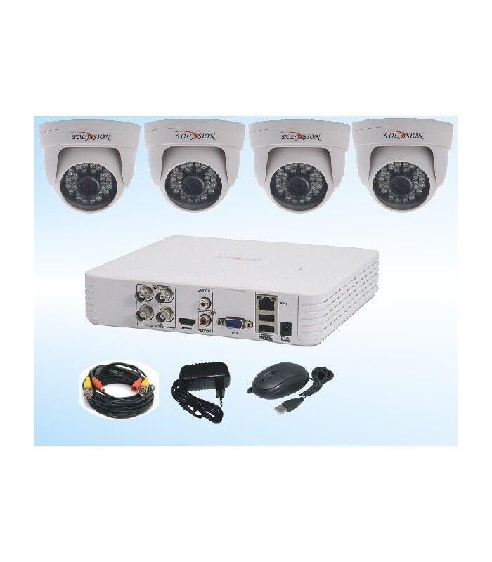 Комплект видеонаблюдения видеорегистратор 4камеры блок питания 3 А
