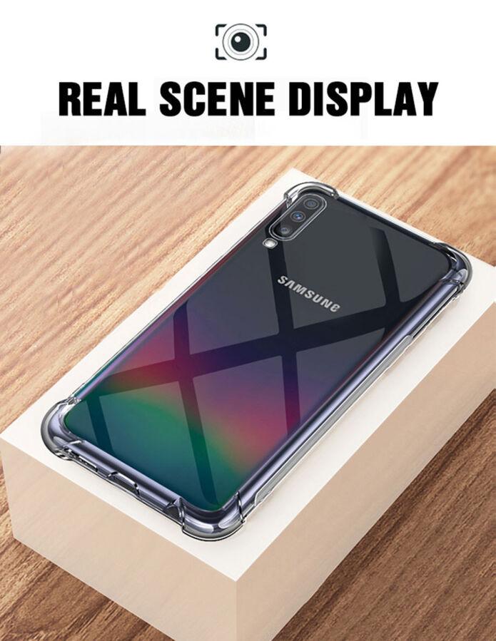 Силіконовий прозорий чохол Samsung Galaxy A50