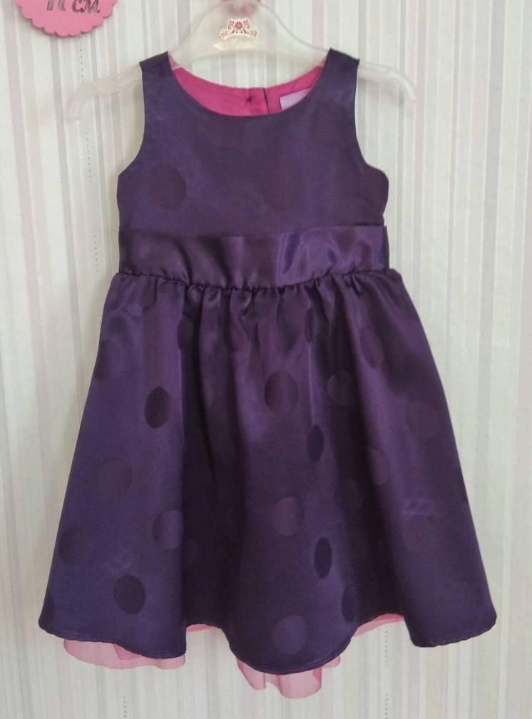Фиолетовое платье в горохи Cherokee р. 9-12 мес