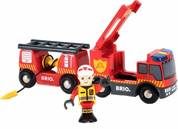 Деревянная железная дорога Brio Брио 33811 Пожарный автомобиль