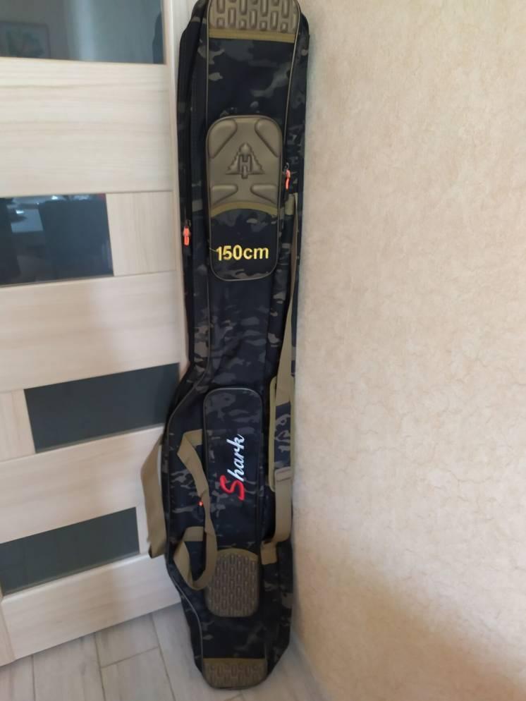 Чехол сумка для удилищ удочек с катушками 150 см трехсекционный
