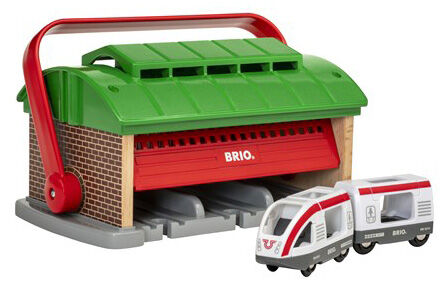 Деревянная железная дорога Brio (Брио) 33474 Депо с ручкой