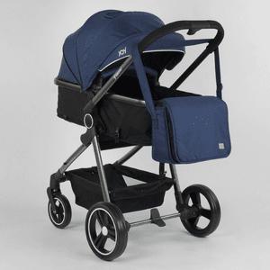 Коляска детская трансформер JOY Naomi 62763 Синий, сумка, футкавер