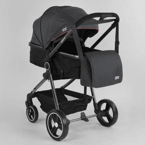 Коляска детская универсальная 2 в 1 JOY Naomi 78141 Темно-серый, сумка
