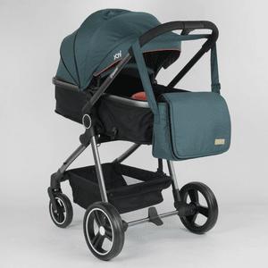 Детская универсальная коляска 2 в 1 JOY Naomi 80793 Темно-бирюзовый, с