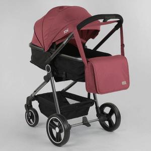 Детская коляска трансформер 2 в 1 JOY Naomi 95823 Бордовый, сумка, фут