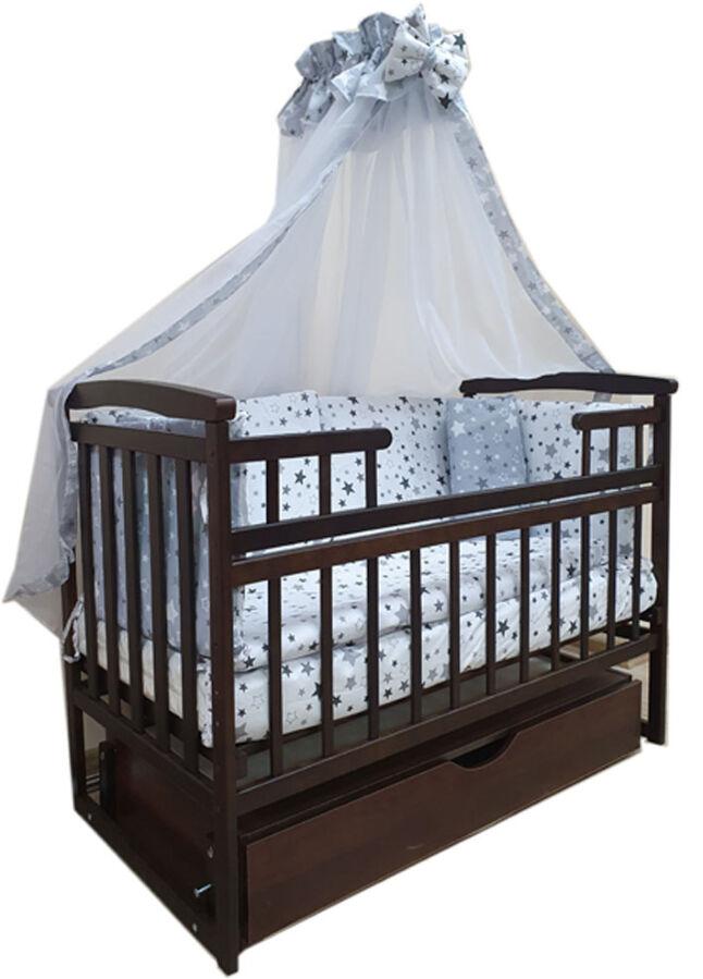 Акция! Комплект Элит: кроватка маятник, матрас кокос, постель. Новое