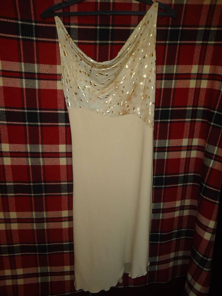Сарафан женский. Платье вечернее. Золото.