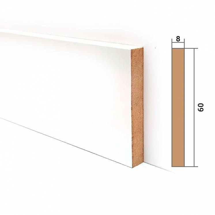 Декоративная МДФ вставка 10х60мм крашенная