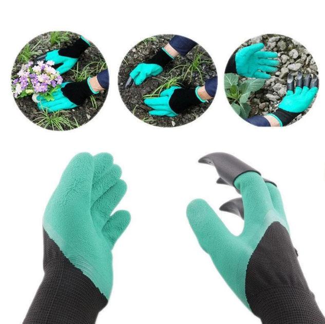 Багатофункціональні садові рукавички з кігтями GARDEN GLOVE