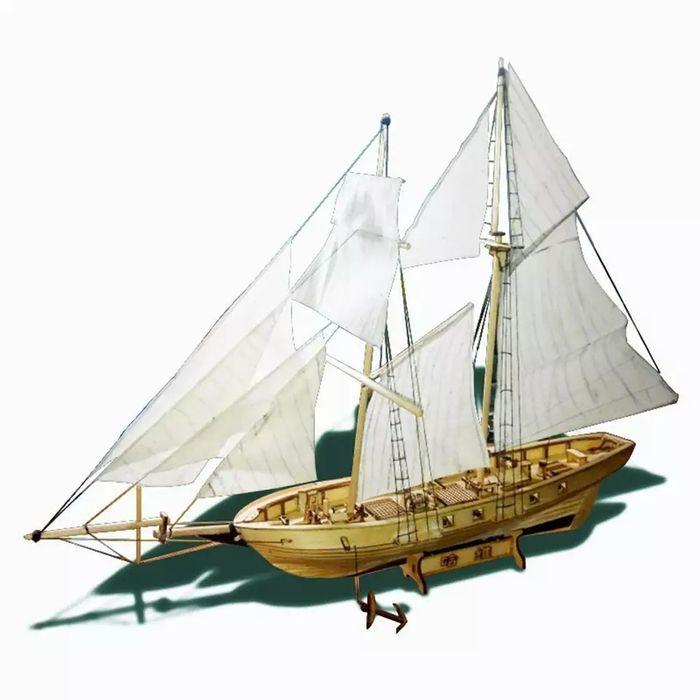 Модель корабля кораблика парусника, корабль парусник KIT набор