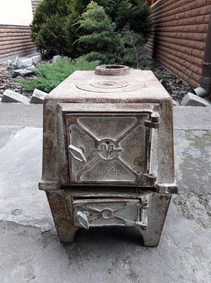 Буржуйка чугунная печка печь піч чавунна топка камин камін булерьян