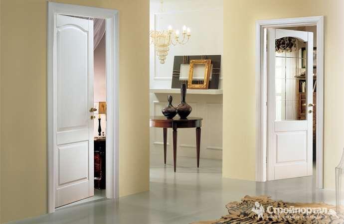 Двери межкомнатные канадка глухое/стекло