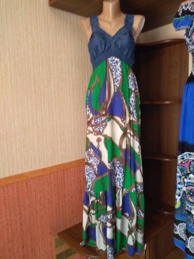 платье сарафан макси в греческом стиле, интересное сочетание тканей