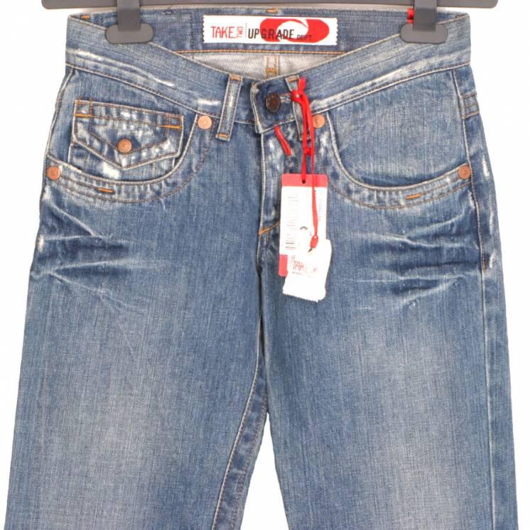 Take Two Италия Джинсы 26/34 на девочку 42/13-15 л прямые брюки штаны