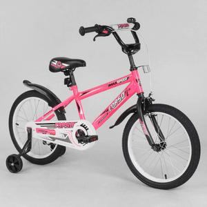 """Детский 2-х колёсный велосипед 18"""" дюймов Corso EX-18 N 2395 Розовый"""