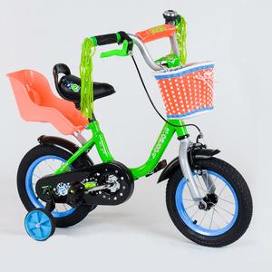 """Детский двухколёсный велосипед 12"""" с ручным тормозом и съемными страхо"""