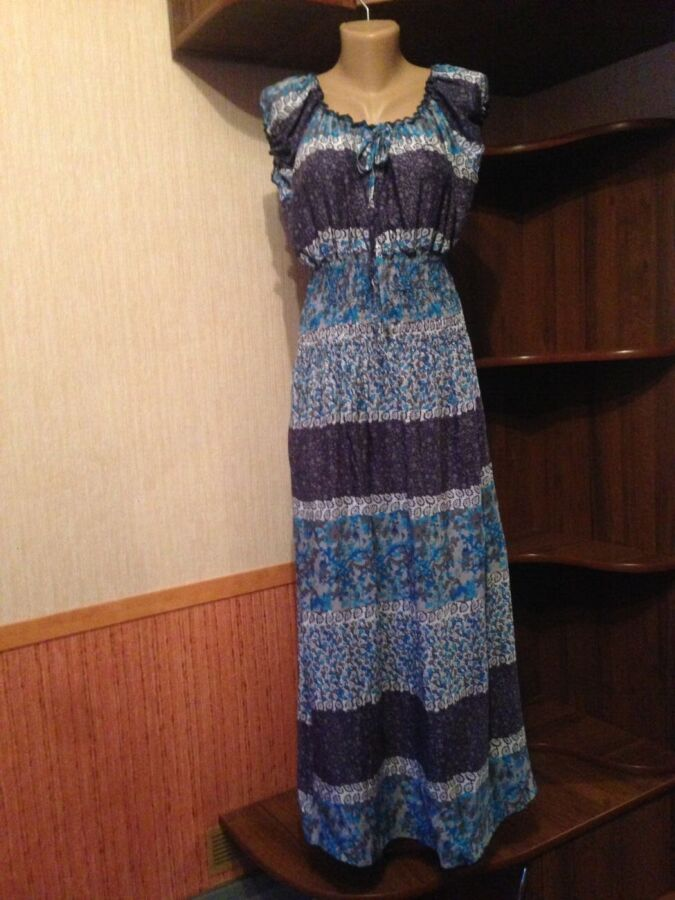 Тренд 2020 платье сарафан с цветочным принтом , макси, 48/52