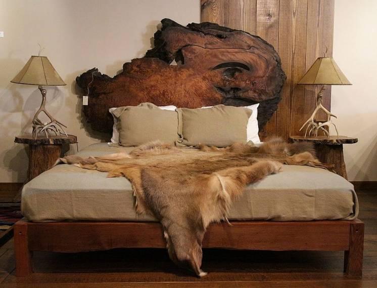 Кровать Из Натурального Дерева (Слэб), Под Заказ!