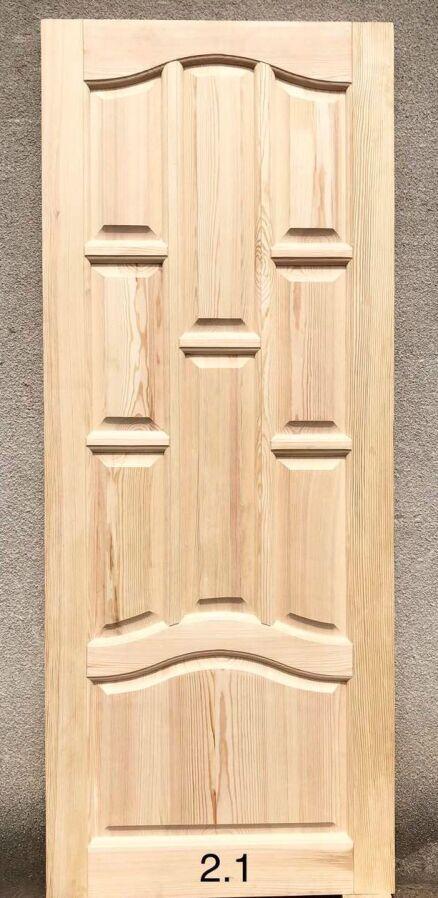 Двери деревянные из массива сосны 2050*600*40 мм Арт.2,1 глухие