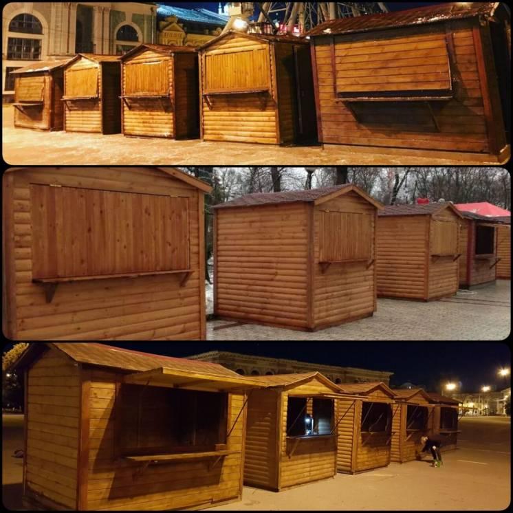 Деревянные торговые домики