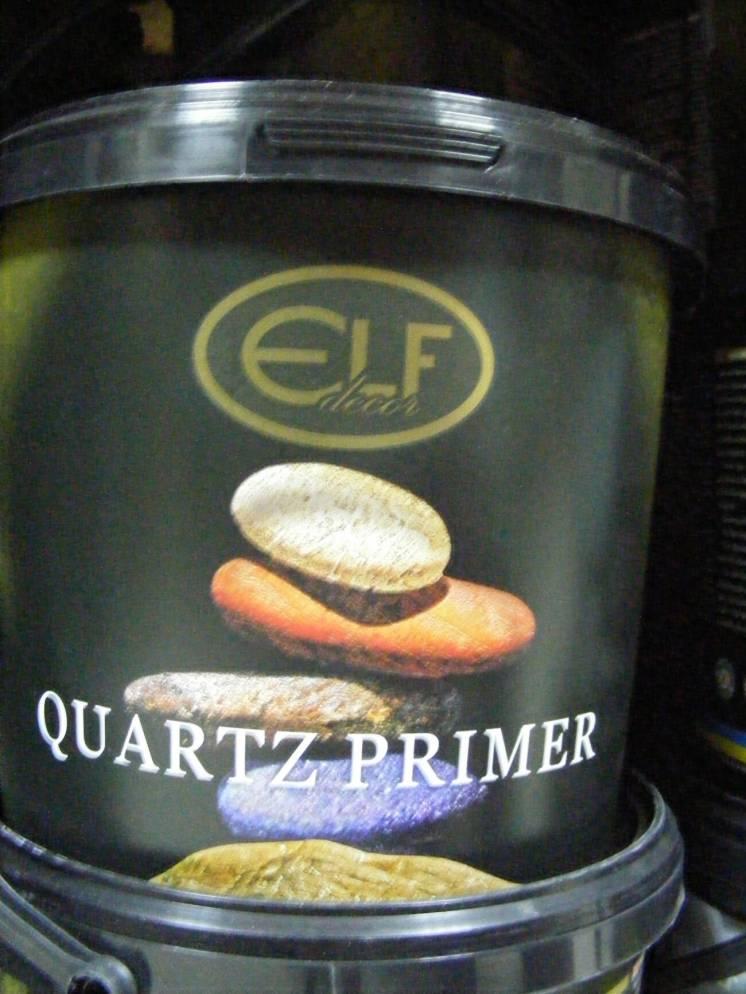 Quartz Primer -Кварц-грунт для декоративных покрытий (Эльф Декор),3  л