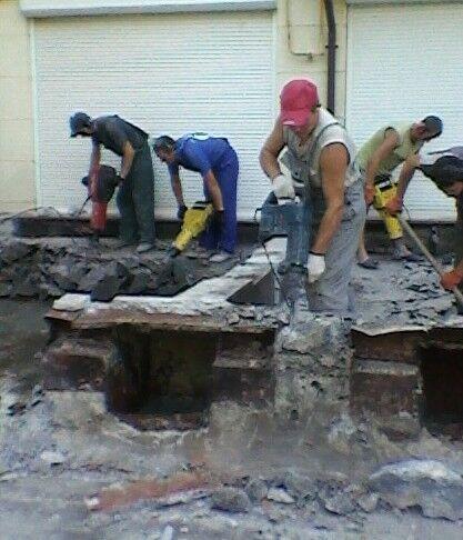 Демонтаж демонтажные земляные бетонные работы.Траншеи сливные ямы