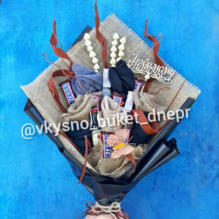 Мужские букеты,букеты из носков, съедобные букеты