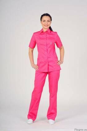 Костюм женский медицинский, куртка и брюки для медсестры