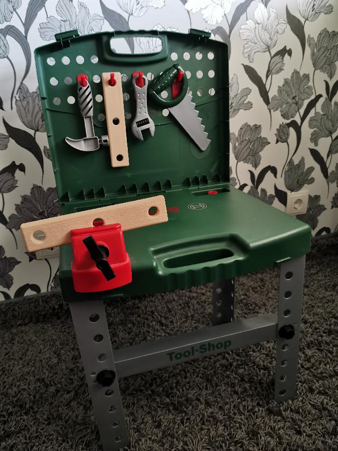 Столярный набор стол Bosch верстак игровой детский мастерская инструме
