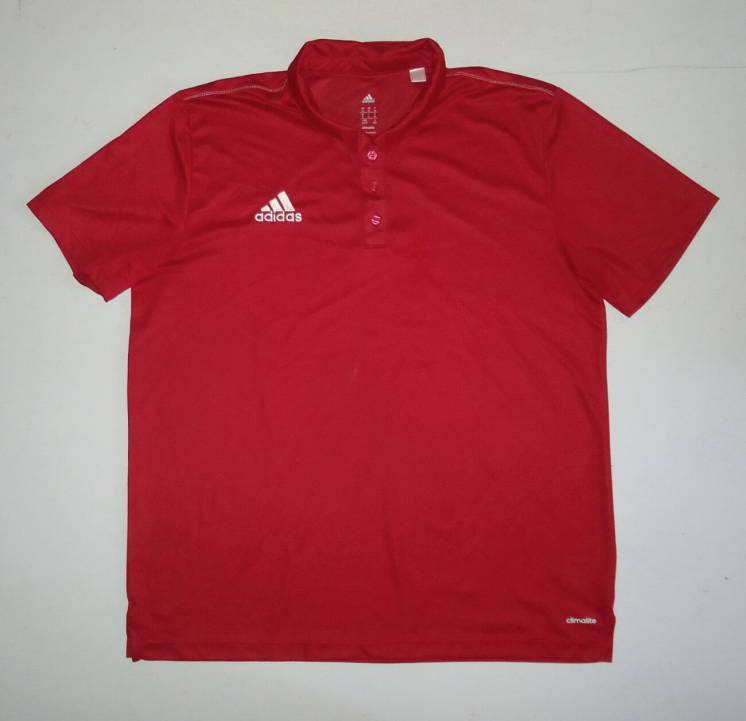футболка  adidas  ClimaLlite темно красная (XL)