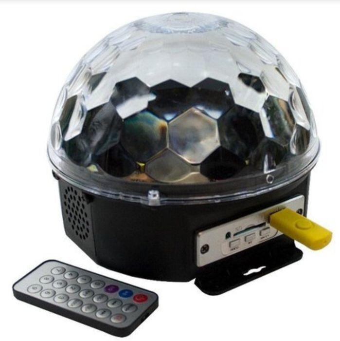 Музыкальный световой шар +пульт+флешка