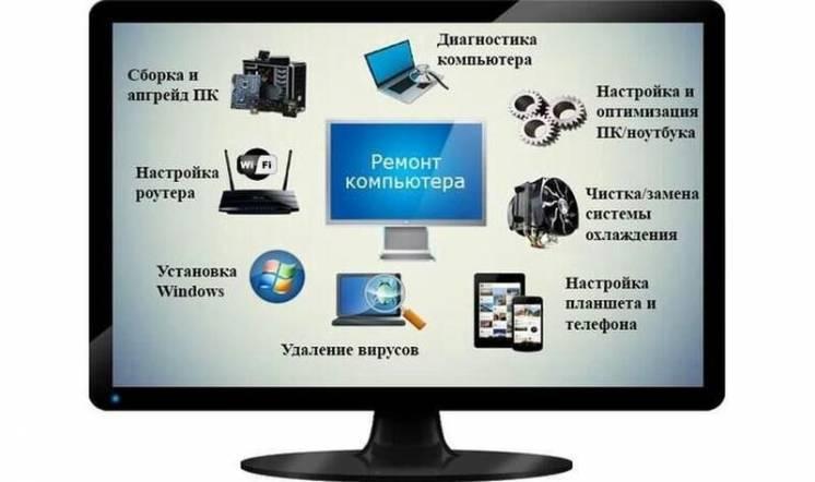 Ремонт и обслуживание компьютеров и мониторов!