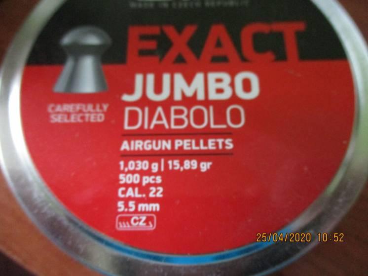Пульки JSB Diabolo Exact Jumbo 5.5 мм, 1.03 г 500 шт