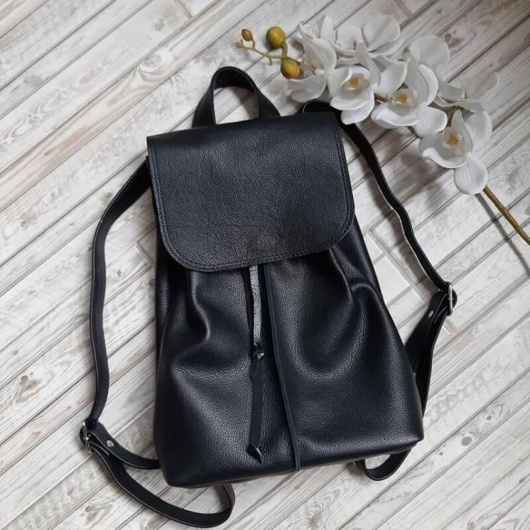 Кожаный рюкзак на подкладке