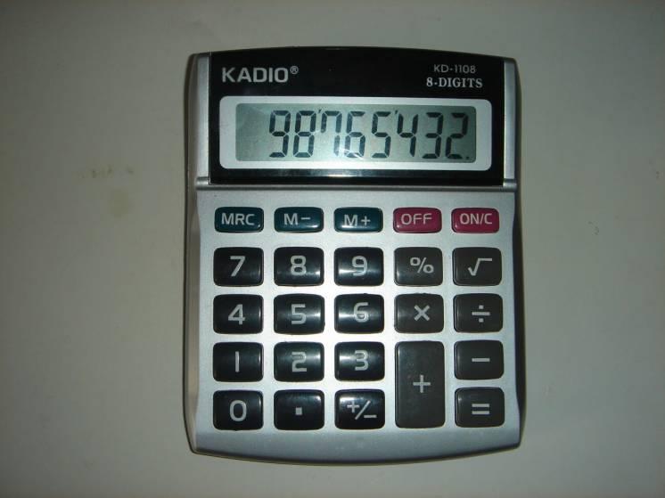 Калькулятор KADIO-1108.