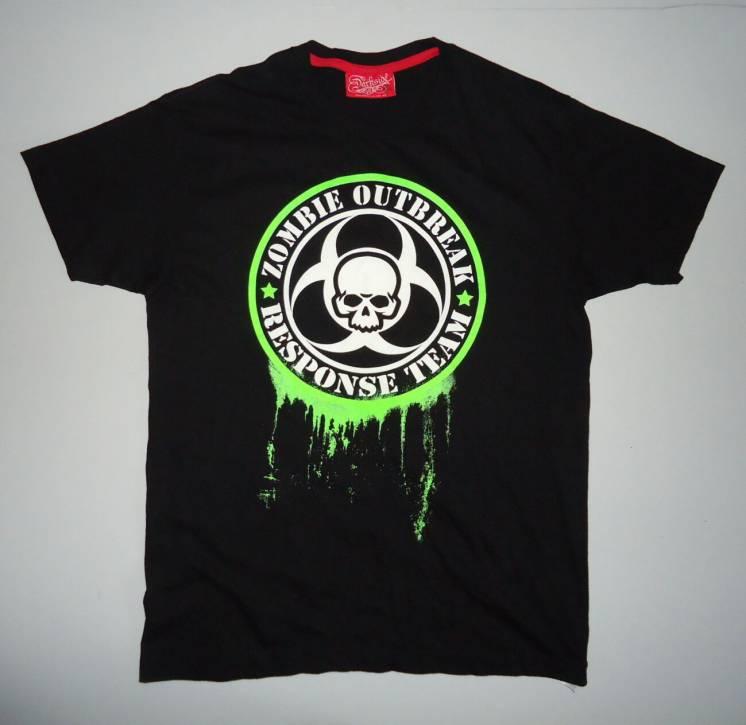 футболка  Zombie Outbreak черная  (M)