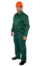 Костюм рабочий с полукомбинезоном зеленый для сотрудников
