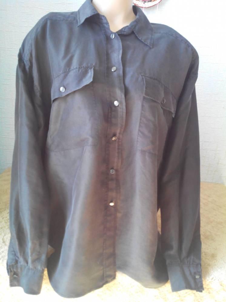Шелковая блуза 100% натуральный шелк/ flou
