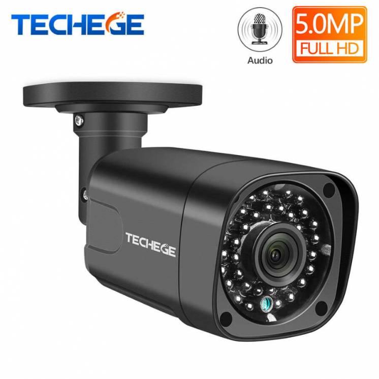 Водонепроницаемая камера видеонаблюдения Techege 5MP - POE IP камера